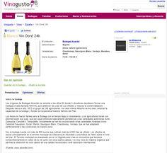 La web Vinogusto recomienda Vin Doré 24K
