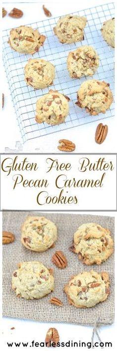 Gluten Free Butter Pecan Caramel Cookies