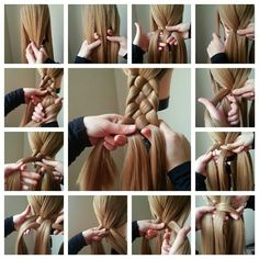 Comment faire un tutoriel de coiffure tresse - Toronto, Calgary, Edmonton, Mont . Old Hairstyles, Braided Hairstyles Tutorials, Pretty Hairstyles, Hair A, Your Hair, Wavy Hair, Short Hair, 4 Strand Braids, Curly Hair Styles