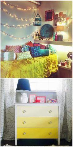 Decoração // Quarto para Menina // Adolescente // Criativo // Amarelo