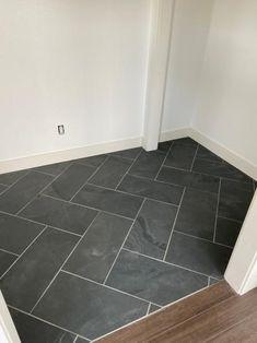 MSI Montauk Black 12 in. x 24 in. Gauged Slate Floor and Wall Tile sq. / - The Home Depot floors MSI Montauk Black 12 in. x 24 in. Gauged Slate Floor and Wall Tile sq. / - The Home Depot Entryway Flooring, Slate Flooring, Kitchen Flooring, Tile Floor Kitchen, Tile Entryway, Tile Basement Floor, Best Bathroom Flooring, Shower Floor Tile, Kitchen Backsplash