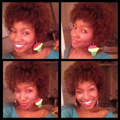 Natural hair, Afro, natural girl with color