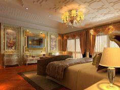 Modelo de quarto luxuoso