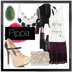 Whole outfit is super cute... and yes, the shoes name is Pippa :)