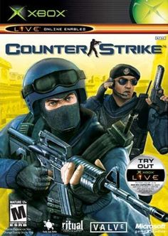 Counter-Strike - Xbox: Rescue hostages and diffuse bombs, with up to 16 players via Xbox Live (not included), in this intense, team-based, first-person shooter. Video Games Xbox, Xbox Games, Fifa Games, Playstation, Xbox Pc, Free Pc Games, First Person Shooter, Xbox Live, San Andreas