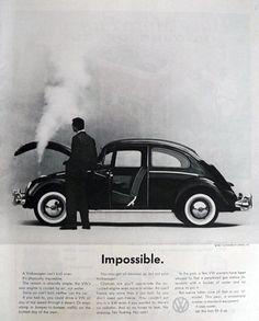 1961 Volkswagen VW Beetle Ad ~ Impossible