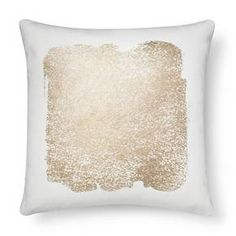 Metallic Square Decorative Pillow Cream - Threshold™ : Target