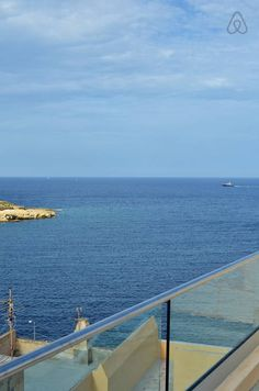 sea-view from shared terrace Flat Rent, Rental Apartments, Malta, Perfect Place, Terrace, Sea, Country, Luxury, Places