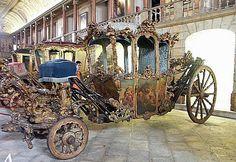 Ornate coach in the Coach Museum, Lisbon