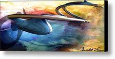 Blue Lava Canvas Print / Canvas Art By Alexis Bonavitacola