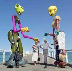 huge puppets | giant roving puppets adelaide stilt walkers these hugely successful 4