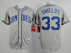 Men's San Diego Padres #33 James Shields Gray Jersey
