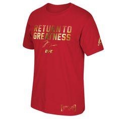 Men's Jon Jones Red UFC Return to Greatness T-Shirt