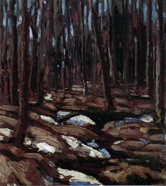 Tom Thomson: Spring Break-up, 1916 Emily Carr, Watercolor Trees, Painting Trees, Tree Paintings, Canadian Painters, Canadian Artists, Abstract Landscape, Landscape Paintings, Group Of Seven Paintings