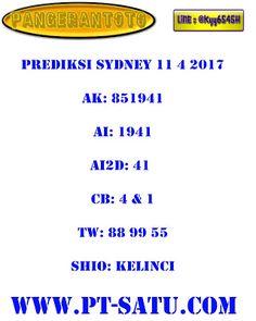 PANGERANTOTO: prediksi pangerantoto togel sydney 11/4/2017