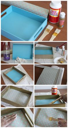 Serving Tray Decoration Ideas Inspirational 21 Incredibly Chic Thrift Store Make&; Serving Tray Decoration Ideas Inspirational 21 Incredibly Chic Thrift Store Make&; Decoupage Wood, Decoupage Tutorial, How To Decoupage Furniture, Napkin Decoupage, Decoupage Ideas, Serving Tray Decor, Wooden Serving Trays, Diy Arts And Crafts, Home Crafts