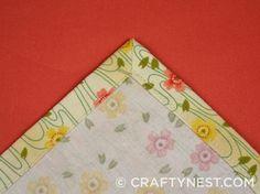 Tutorial: Tovaglioli di stoffa con angoli squadrati