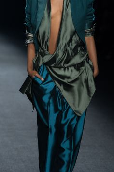 Haider Ackermann drapes and beautiful ocean colours