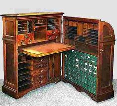 This desk was designed much like a Wooton Cabinet Secretary but since it was in…