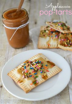 Applesauce Pop-Tarts by crazyforcrust.com | A homemade pop-tart filled with a crockpot applesauce!  #applesauce #crockpot #breakfast