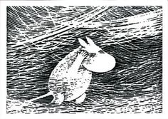 Moomin by Tove Jansson. Tove Jansson, East Of The Sun, Weird Creatures, High Art, Linocut Prints, Book Illustration, Amazing Art, Design Art, Fairy Tales