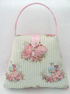 The Handbag Doorstop Victorian Ladies fabric
