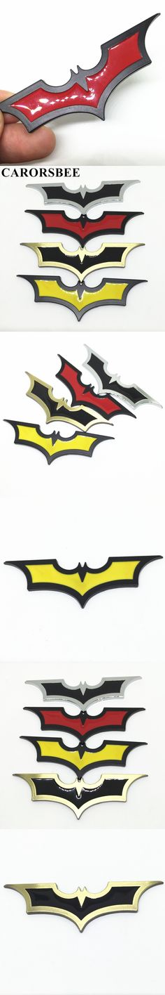 CARORSBEE 3D Cool Metal bat auto logo Car sticker batman badge emblem front  tail wings decal motorcycle automobiles accessories