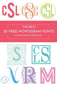 Free monogram fonts for cricut Cricut Monogram Font, Monogram Maker, Initial Fonts, Free Monogram, Monogram Design, Cricut Vinyl, How To Monogram, Monogram Stencil, Embroidery Monogram Fonts