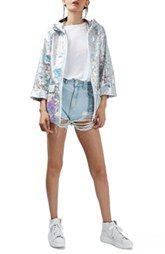 Topshop Holographic Rain Jacket (Regular & Petite)