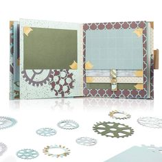 Amazon.com: Matty's Crafting Joy Masculine Chic - 12x12 Double Sided Turquoise Scrapbook Paper Pad, 24 Light Teal Blue Patterned Cardstock Paper Pack
