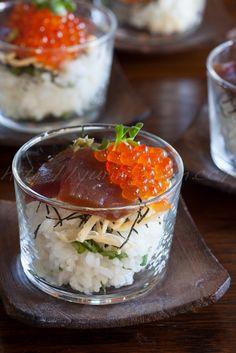 Chirashi-zushi in a cup