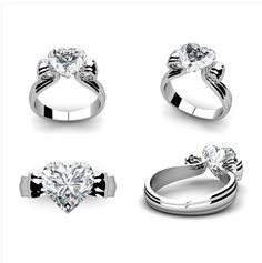 Superb  Kt White gold three row diamond brilliant engagement rings Buy at Wholesale Diamond Price Diamond Engagement Rings Dubai Pinterest