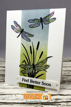 Gina K Designs –Inspiration Blog Hop – Day 1   Creative Lady Cool Cards, Diy Cards, Masculine Birthday Cards, Stamping Up Cards, Card Making Techniques, Get Well Cards, Butterfly Cards, Animal Cards, Pretty Cards