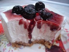 Greek Sweets, Greek Desserts, Easy Desserts, Easy Cheesecake Recipes, Sweets Recipes, Cooking Recipes, Cheesecake Bars, Sweet Pastries, My Dessert
