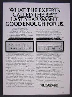 Vintage Pioneer Stereo Tuner for sale online High End Audio, Audio System, Advertising, Vintage, Ebay, Vintage Comics