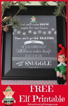 FREE Christmas Elf Movie Printables - this is so funny! eclecticallyvintage.com