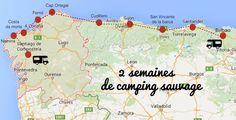 Wild camping with a family motorhome in Galicia galice espain campingcar Camping Items, Camping List, Camping World, Family Camping, Family Cars, Camping Stove, Bilbao, Santa Cruz Camping, Camping Sauvage