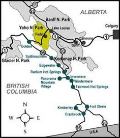 Yoho National Park Map Bing Images