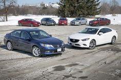 """1st Place - Comparison Test: 2014 Mid-Size Sedans """"Kudos to the automotive designers who bring us cars like the Mazda6. Not only does it serve as a sensible mid-size sedan, but it looks damn good doing it too, plus it's honestly fun to drive thanks to its great handling."""""""