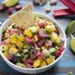 Recipe: Mango Rhubarb Salsa