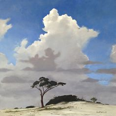 Cloud Over Pine on Horn Island: Billy Solitario: Oil Painting | Artful Home
