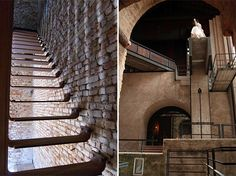 Carlo Scarpa's Castelvecchio, Verona, Italy, renovated 1953-71.  Photo on left by Peter Guthrie; on right by Adam Nelson.