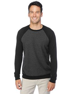 Splendid Color Block Thermal Crew Neck $88.00 | Big fan of Splendid's basic long sleeve shirts - so comfortable, great quality and they last forever!