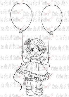 IMG00426 I'm Two Digital Digi Stamp Coloring Books, Coloring Pages, Can Can T, Types Of Craft, Wood Cutouts, Digi Stamps, Doll Face, Digital Image, Art Drawings