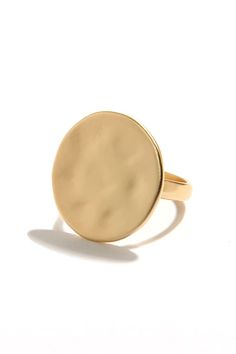 Another Round Gold Ring at LuLus.com!
