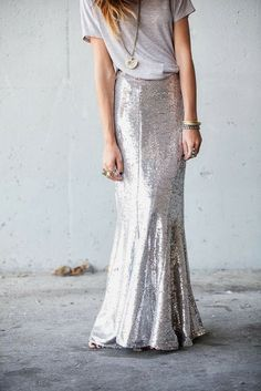 How to Chic: SEQUIN MAXI SKIRT