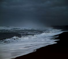 This morning on the beach (in Iceland) by Sverrir Thorolfsson