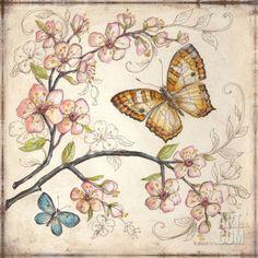 """""""Le Jardin Butterfly II"""" Art Print by Kate McRostie at Art.com"""