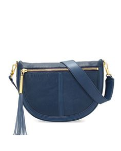 Scott Mini Moon Perforated Saddle Bag, Yachting Navy by Elizabeth and James at Neiman Marcus.