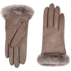 UGG Classic Leather Smart Glove (Stormy Grey Two-Tone) Dress Gloves (355 BRL) ❤ liked on Polyvore featuring accessories, gloves, ugg, gray gloves, long grey gloves, grey gloves and ugg gloves